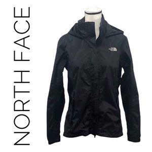 North Face black Hyvent hooded windbreaker